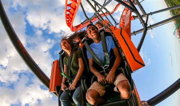 Guests taking on Tigris at Busch Gardens Tampa Bay