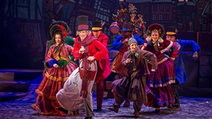 Christmas show, Scrooge No More! at Busch Gardens Christmas Town