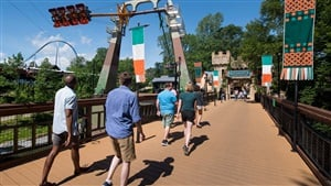 Now Open! - Finnegan's Flyer, extreme screaming swing ride at Busch Gardens Williamsburg
