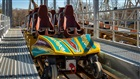 Preview of the roller coaster train on Pantheon, coming spring to Busch Gardens Williamsburg