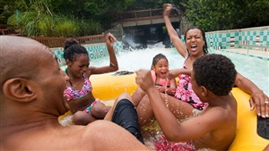 Enjoy water slides and attractions as a family