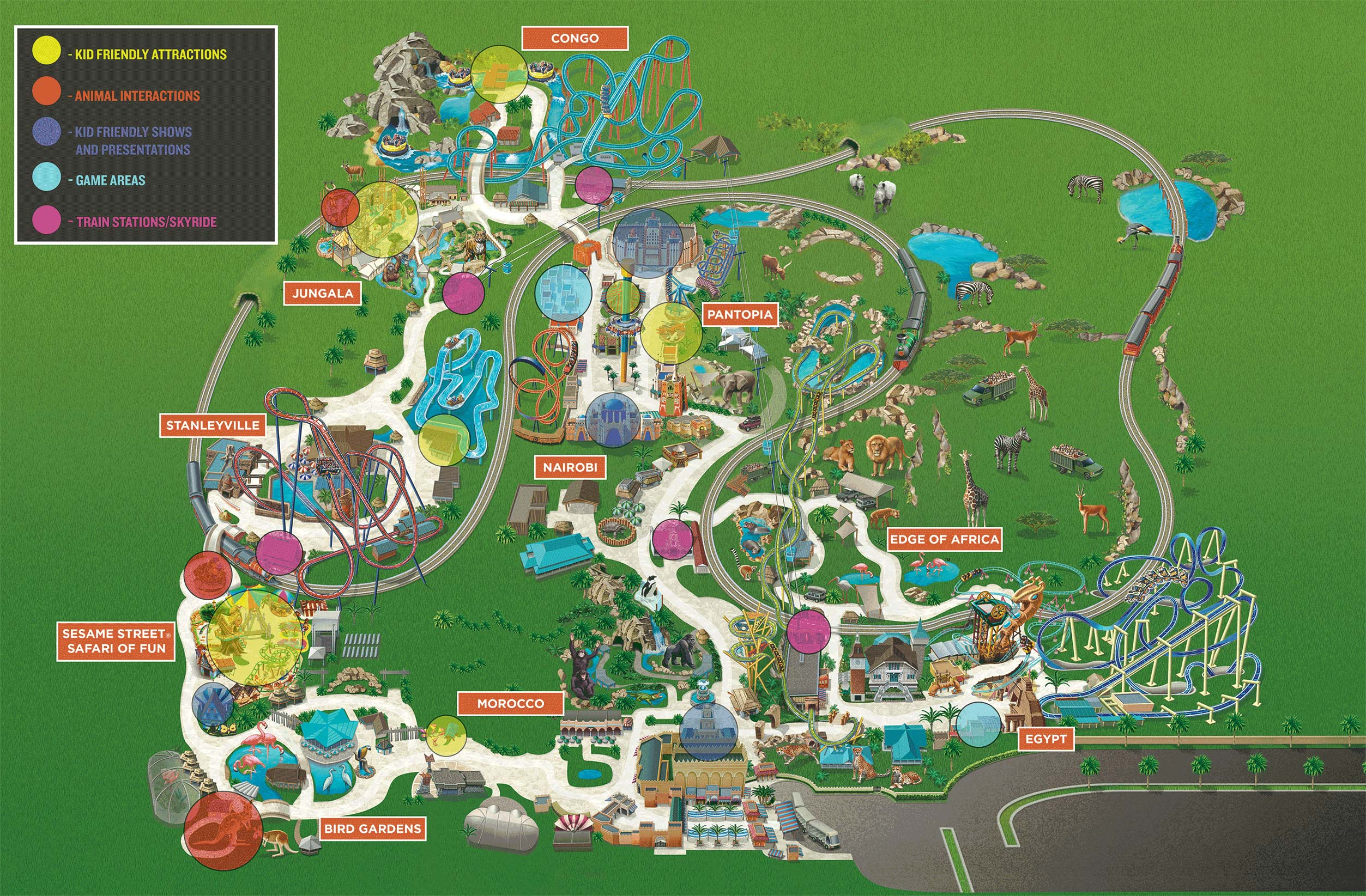 Kid Friendly Attractions at Busch Gardens Tampa Bay