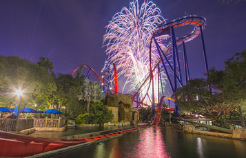 Fourth of July Fireworks at Busch Gardens Tampa Bay