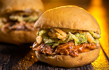 Enjoy delicious food items during Summer Nights at Busch Gardens Tampa Bay like a Pork Slider