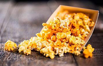Enjoy delicious food items during Summer Nights at Busch Gardens Tampa Bay like Spicy Popcorn