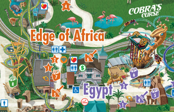 Theme Park Map for Busch Gardens Tampa Bay