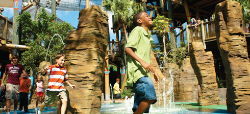 Play in the Tree Top Trails at Busch Gardens Tampa Bay