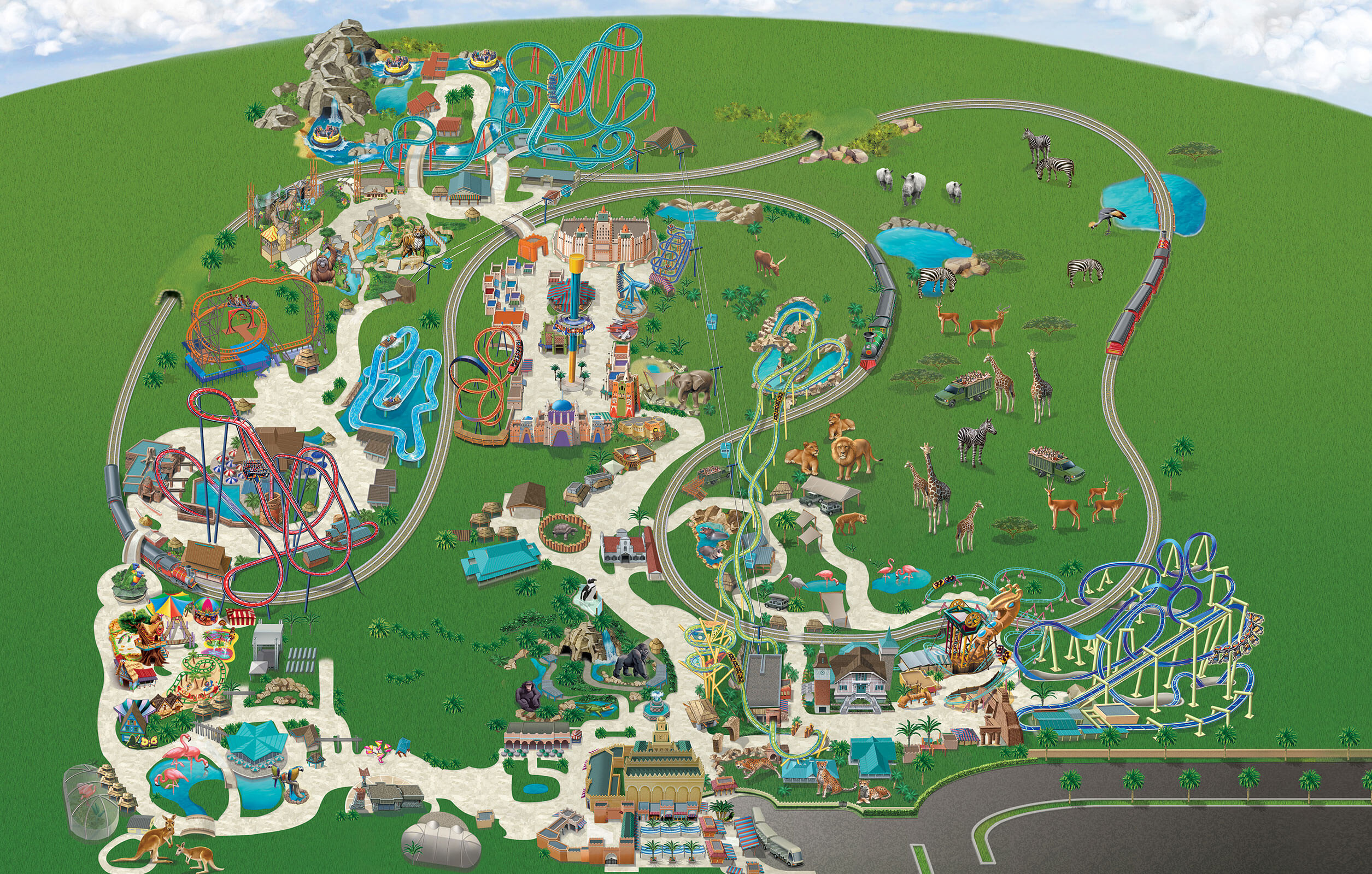 Theme Park And Rides Map New In 2019 Busch Gardens Theme Park