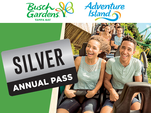 Busch Gardens Tampa Bay and Adventure Island Silver Annual Pass