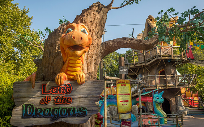 Land of the Dragons is one of our kid-friendly play areas