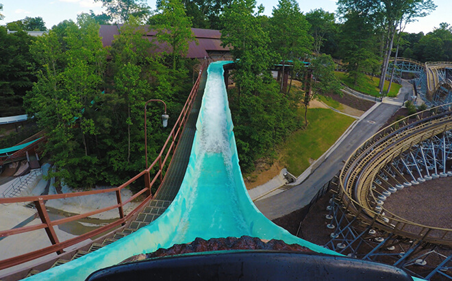Take a ride down our log flume in New France