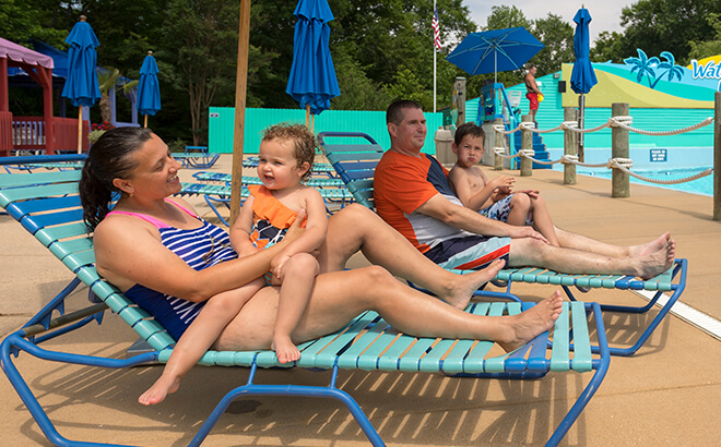 Reserve a lounger in an exclusive area in our water park