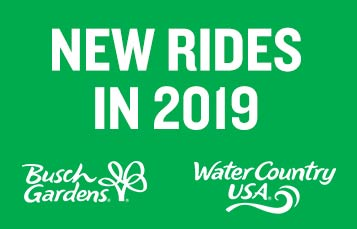Two new rides are coming to Busch Gardens and Water Country USA. Don't miss Finnegan's Flyer and Cutback Water Coaster - opening spring 2019.
