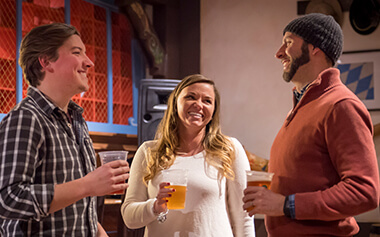Enjoy seasonal craft beers at Brauhaus craft bier room