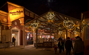 Restaurants at Busch Gardens Christmas Town