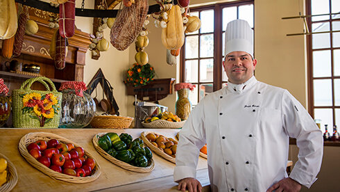 Chef Justin at Busch Gardens Williamsburg in Virginia