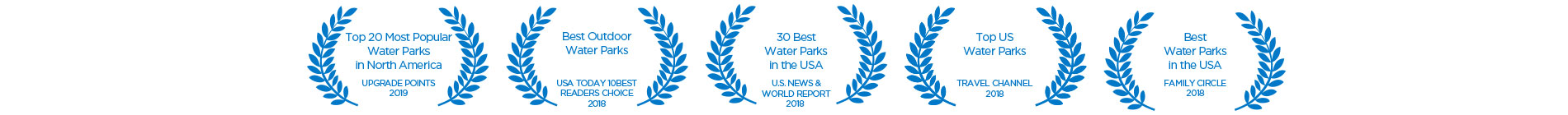 Water Country USA Accolades - Best Water Parks in the USA |Top 20 Most Popular Water Parks in North America - Upgrade Points | Best Outdoor Water Parks - USA Today 10Best Readers Choice | 30 Best Water Parks in the USA - U.S. News World Report | Top US Water Parks - Travel Channel | Best Water Parks in the USA - Family Circle