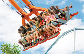Extreme air-powered swing Finnegan's Flyer at Busch Gardens Williamsburg, new for 2019