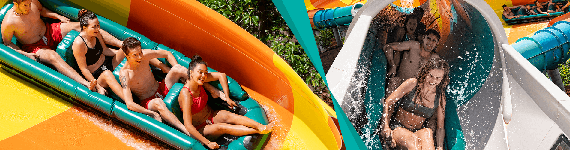 Virginia's first water coaster, Cutback Watercoaster, new for 2019 at Water Country USA