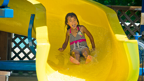 Little Bopper kid slide in Rock 'n' Roll Island at Water Country USA