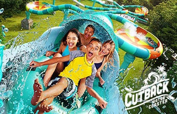 Feel the rush of the water as you are blasted uphill and through thrilling cures on Cutback Water Coaster, coming to Water Country USA in 2019.