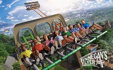 Finnegan's Flyer will take you head over heels on this extreme swing, coming in 2019 to Busch Gardens Williamsburg.
